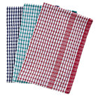 Rice weave tea towels assorted colours 10 pack