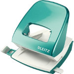 Leitz NeXXt Series WOW Metal Office 2 Hole Punch Ice Blue 30 sheets