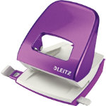 Leitz NeXXt Series WOW Metal Office 2 Hole Punch Purple 30 sheets