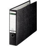 Leitz Oblong Lever Arch File A3 Landscape Black 77 mm