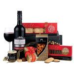 Celebration gift basket with red wine Christmas hamper