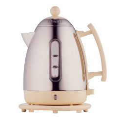 Dualit 1.5 litre stainless steel and cream cordless jug kettle