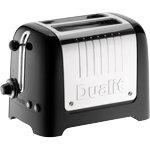 Dualit 2 slot lite black toaster