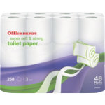 Office Depot three ply toilet tissue pack of 48