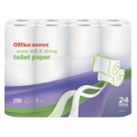 Office Depot three ply toilet tissue pack of 24