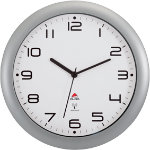 Alba Quartz wall clocks HORNEWRC M Metallic Grey