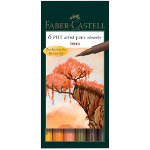 Faber Castell Pitt Artist Brush Pen Assorted Colours Terra pack 6
