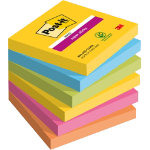 Post it Super Sticky Notes Rio Assorted 76 x 76 mm 70gsm 6 pieces of 90 sheets