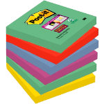 Post it Super Sticky Notes Marrakech Assorted 76 x 76 mm 70gsm 6 pieces of 90 sheets
