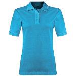 Alexandra women s polo shirt turquoise size large