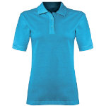 Alexandra women s polo shirt turquoise size medium