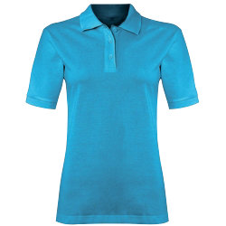Alexandra womens polo shirt turquoise size small