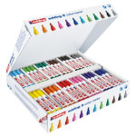 Edding water based chisel nib colour markers assorted colours box 144