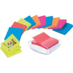 Post it 76 x 76 mm Super Sticky Z notes Bangkok and Bora Bora colour collections pack of 12