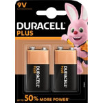 Duracell 9V Plus Power battery x2