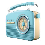 Akai Retro radio blue