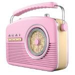 Akai Retro radio pink