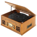 iTek antique record CD and cassette player