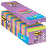 Post it Super Sticky Notes Assorted 76 x 76 x 76 mm 70gsm 24 pieces of 90 sheets