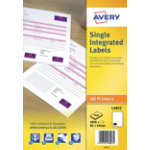 Avery single integrated labels box of 1000 85 x 54mm