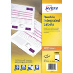 Avery double integrated labels Box of 1000 85 x 54mm with Perforation