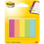 Post it Page Markers 6705CAEU Assorted 127 x 444 mm 444 x 127 mm 5 pieces of 50 strips