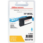 Office Depot Compatible HP No951XL High Capacity Cyan Inkjet Cartridge CN046A