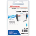 Office Depot Compatible Epson T1812 High Capacity Cyan Inkjet Cartridge C13T181240
