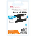 Office Depot Compatible Brother LC1280XLC Cyan Inkjet Cartridge