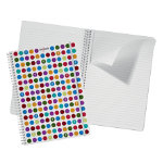 Snopake Polka Dot White A4 notebook