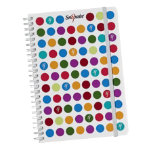 Snopake Polka Dot White A5 notebook