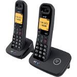 BT Telephone BT1100 Twin Black