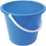 10L Plastic Bucket With Handle Blue