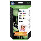 HP 364 Original Combo BCMY Ink Cartridges Pk 4