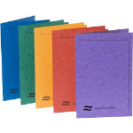 Exacompta Square Cut Folders Foolscap Assorted Manilla 360 x 260 x 80 mm