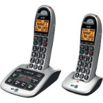 BT Telephone BT4500 twin Black Silver