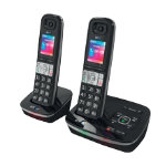 BT Telephone BT8500 Twin Black Silver
