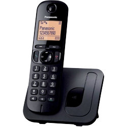 Panasonic KXTGC210EB digital cordless phone with nuisance call blocker ? single