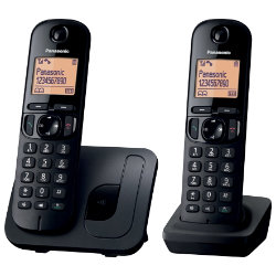 Panasonic KXTGC210EB digital cordless phone with nuisance call blocker ? twin