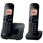 Panasonic KX TGC210EB digital cordless phone with nuisance call blocker twin