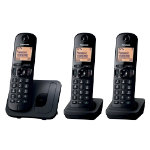 Panasonic KX TGC210EB digital cordless phone with nuisance call blocker trio