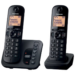 Panasonic KXTGC220EB digital cordless phone with answering machine ? twin
