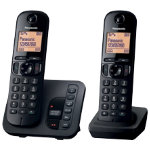 Panasonic KX TGC220EB digital cordless phone with answering machine twin