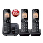 Panasonic KX TGC220EB digital cordless phone with answering machine trio