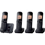 Panasonic KX TGC220EB digital cordless phone with answering machine quad