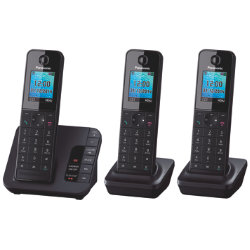 Panasonic KXTGH220EB digital cordless phone with answering machine ? trio