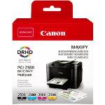 Canon PGI 2500 Original Ink Cartridge Black Cyan Magenta Yellow Pack 4