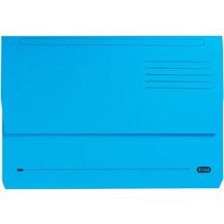 Elba Bright manilla document wallet foolscap Blue Pack 25