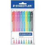 Staedtler retractable ballpoint pens in assorted colours pack of 8