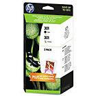 HP 301 Original Twin Pack Black Tricolour Ink Cartridges Pk 2 J3M81AE